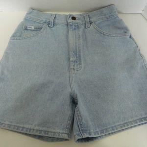 Lee Ladies Light Blue Denim Shorts Size 10 Med